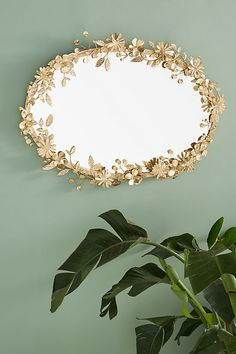 Create a gorgeous DIY Anthropologie Inspired Gold Flower Mirror on a budget just by using spray paint, faux flowers and a thrifted mirror. Cute Dorm Rooms, Cool Rooms, Cheap Home Decor, Diy Home Decor, Flower Mirror, Decor Pillows, Contemporary Home Decor, Gold Flowers, Faux Flowers