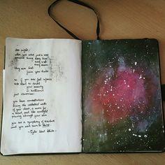 JOURNALS - l-a-t-i-c-a:   Did a little art journaling...