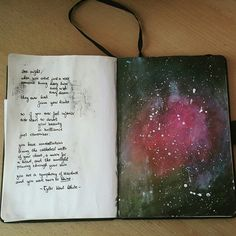 Did a little art journaling experiment in my bullet journal… turned out great  so proud