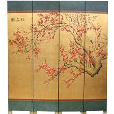 Cherry Blossom Chinese Screen