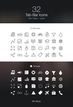 Free iOS 7 Tab Bar Icons Vol4