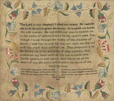British Sampler, embroidered by Sarah Murphy 1829  Linen with silk embroidery