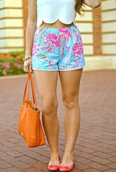 lilly pulitzer + scallop crop top