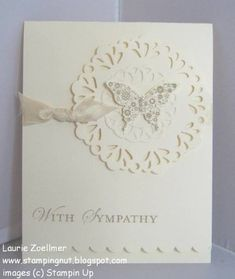 Papillon Potpourri   Delicate Doilies Die, Elegant Butterfly Punch, Basic Pearls, Vanilla Seam Binding