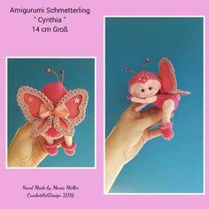 "Anleitung Schmetterling "" Cynthia "" 14 cm Groß"