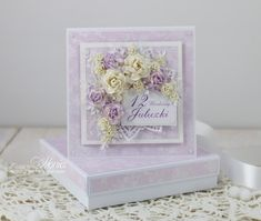 Today I would like to show you two birthday cards with lots of Wild Orchid Crafts flowers. Pretty Cards, Cute Cards, Paper Quilling Cards, Card Making Designs, Decorated Envelopes, Shabby Chic Cards, Wild Orchid, Get Well Cards, Flower Cards