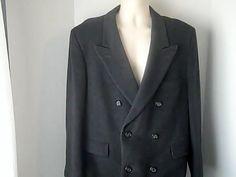ADAMS ROW Mens 44 R Vintage Gray Winter Coat Cashmere Wool #ADAMSROW #BasicJacket