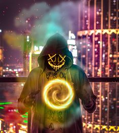 Led purge mask has caused an increase in the sales of Halloween led mask. Costumes draw inspiration from this widespread led Halloween mask trend. Neon Wallpaper, Home Wallpaper, Wallpaper Awesome, Wallpaper Wallpapers, Usernames For Instagram, Instagram Posts, Purge Mask, Glow Mask, Joker Wallpapers