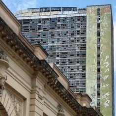View from Sao Paulo's public market and the Sao Vito building (demolished in 2010) - Sao Paulo, Brazil