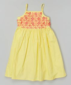Look what I found on #zulily! Yellow Floral Babydoll Dress - Toddler & Girls by Donita #zulilyfinds