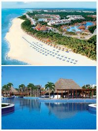 Cancun, Mexico - stayed at the Valentine Imperial... no kids, HUGE pool, good times!