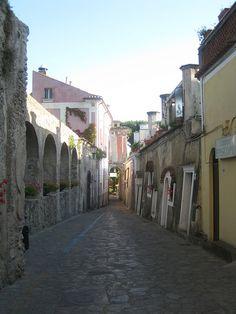 The streets of Ravello, Campania, Italy
