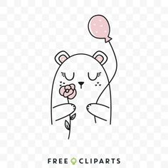 Free Cute Valentine bear clip art Bear Illustration, Bear Valentines, Snoopy, Clip Art, Creative, Cute, Fictional Characters, Kawaii, Fantasy Characters