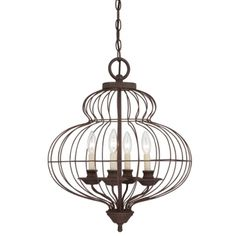 Laila 4 Light Contemporary Bird Cage Style Chandelier