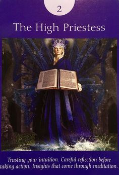 "Daily Angel Oracle Card: The High Priestess, from the Fairy Tarot Cards, by Doreen Virtue Ph.D and Radleigh Valentine The High Priestess: ""The High Priestess comes to assure you that your spi…"
