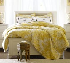 Matine toile quilt in marigold - love!