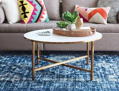 Ideas For How to Style a Round Coffee Table | Apartment Therapy