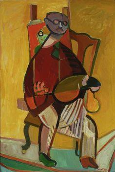 Tadeusz Kantor - Portrait of Tadeusz Brzozowski - malarze.com -- Malarze Polish Art Gallery - Polish Art of Painting and Painters - pl: Mala...