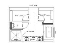 69 Ideas master bathroom closet layout double sinks for 2019 The Plan, How To Plan, Master Bathroom Layout, Bathroom Design Layout, Master Bathrooms, Master Suite Layout, Bathroom Designs, Tile Design, Layout Design