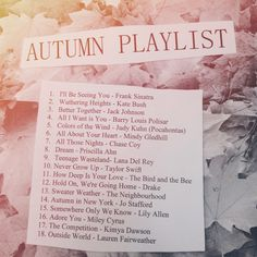 AUTUMN PLAYLIST