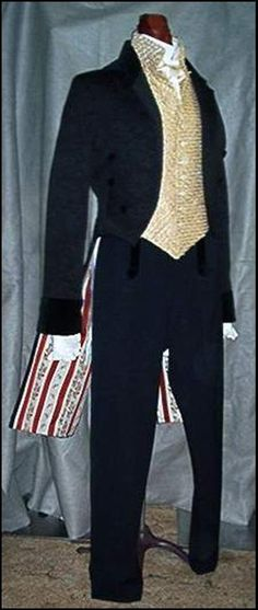 Mens English Regency French Empire Formal Tux Jacket by Satin Shadow Designs, $495.00