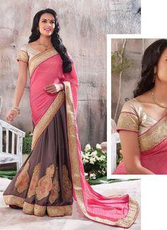 Buy 1 Get 1 Free Bollywood Sari Dress Designer Partywear Ethnic Pakistani Indian #TanishiFashion