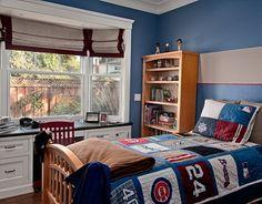 traditional kids blue bedroom 11