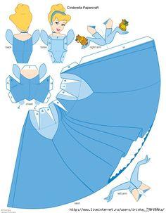 Мобильный LiveInternet Объемные куклы из бумаги - принцессы из любимых мультфильмов | katgvo - Дневник katgvo |