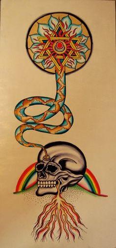 dmt tattoo   Paradise Tattoo Gathering : Original Art : Watercolor : Life from ...
