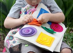 Items similar to Quiet book - Sensory toys - Activity play set - Handmade fabric book - Rainbow colors - Preschool activity - Quiet book for - Busy Board on Etsy Diy Quiet Books, Baby Quiet Book, Felt Quiet Books, Quiet Time Activities, Infant Activities, Quilt Book, Sensory Book, Quiet Book Patterns, Toddler Books