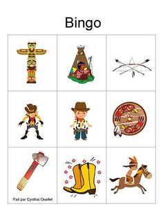 Bingo Pictures, Western Wild, Summer Camp Games, Wild West Party, Cowboy Birthday Party, Cowboy Pictures, Cowboy And Cowgirl, Matching Games, Cowboys