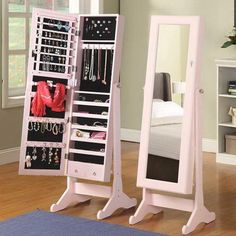 This is excellent for my PINK room and a really great dual idea...mirror and jewellery case...space efficient