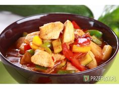 Ratatui a'la Gousto Pork, Cooking Recipes, Ethnic Recipes, Sweet, Pineapple, Kale Stir Fry, Candy, Chef Recipes