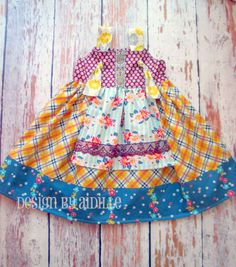 """Easy Dress Pattern, PDF Sewing Pattern for Beginners, Girls Dress Pattern """"The Ava Knot Dress"""" Sizes 6m through girls size 12 by pinkpoodlebows on Etsy https://www.etsy.com/listing/154719041/easy-dress-pattern-pdf-sewing-pattern"""