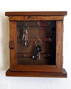 Schlüsselschränkchen aus Teakholz, Schlüsselkasten, Holzschränkchen für Schlüssel (Handarbeit)