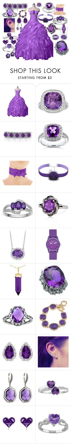 """""""Purple"""" by hilljen ❤ liked on Polyvore featuring Annello, Belk & Co., Skechers, Simone I. Smith, 1st & Gorgeous by Carolee, BillyTheTree, Stephen Dweck, Effy Jewelry and Laura Ashley"""