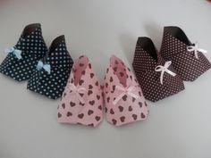 Origami / Orinuno - Sapatinho de bebê