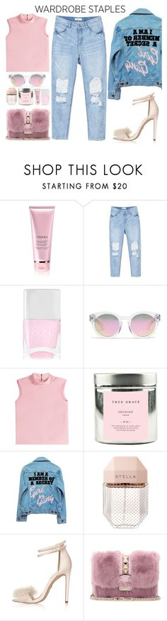 """""""Favorite Color"""" by tamaramanhardt ❤ liked on Polyvore featuring By Terry, Nails Inc., Madewell, RED Valentino, True Grace, High Heels Suicide, STELLA McCARTNEY, Topshop and Valentino"""