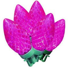Holiday Time LED Super Bright Diamond Cut C9 Christmas Lights, Pink, 100 Count