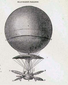 Montgolfier's Balloon & Flying Machines 1892 Vintage Victorian Aviation Inventions Antique Chart Of Early Flight. $43.89, via Etsy.