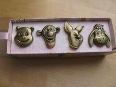 Vintage Winnie the Pooh Brass Drawer Handle / Knob by DottieDollie, via Etsy.