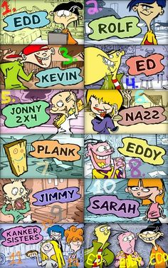 Ed, Edd, n Eddy. #Cartoon #Characters.