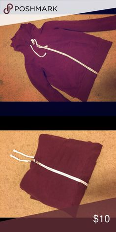 Don't want Burgundy hoodie with pockets & a zipper H&M Jackets & Coats