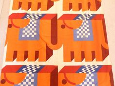 Neil Bradburn - Elephants   HEALS VINTAGE CURTAIN FABRIC    eBay