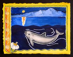 One of Barbara Taylor's vaquita artworks. (Photo: Courtesy Barbara Taylor) Why It's So Hard to Find, Let Alone Save, the World's Cutest Porpoise | Atlas Obscura