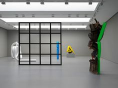 Installation view of Carol Bove's 'Polka Dots' at David Zwirner Gallery New York