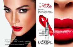 Jennifer Lopez New Face of L'Oréal Paris Makeup Advertisement, Makeup Ads, Makeup Poster, Rihanna Lipstick, Mac Lipstick, Lipsticks, Jennifer Lopez News, Celebrity Branding, Cosmetic Companies