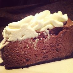Chocolate Mousse Pie. It's got an oreo crust and we top it with homemade whipped cream.