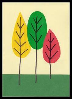 Stromy z lepicích papírů