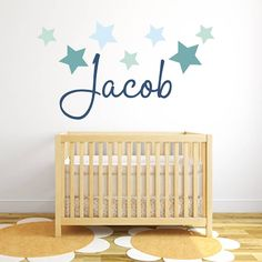 I've just found Star Name Fabric Wall Stickers. A simple and contemporary personalised star wall stickers gift by Littleprints. Nursery Wall Decals Boy, Boys Wall Stickers, Boy Wall Art, Name Wall Decals, Nursery Themes, Room Stickers, Nursery Decor, Nursery Boy, Themed Nursery